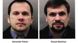 Two Russian nationals suspects in Novichok poisoning
